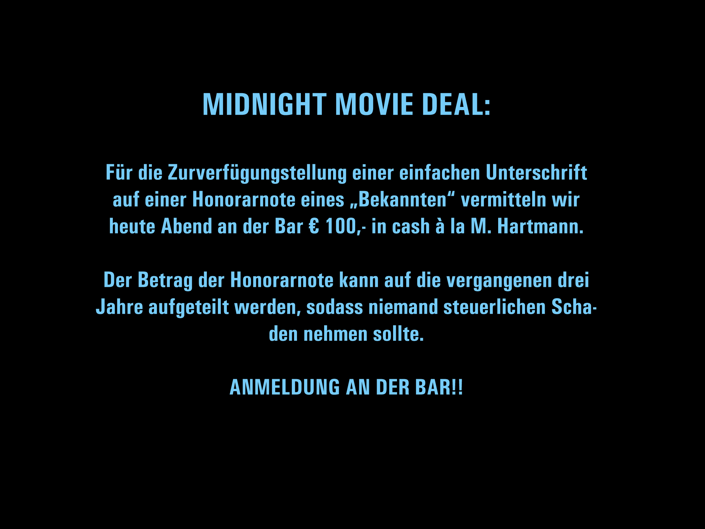 MIDNIGHT MOVIE